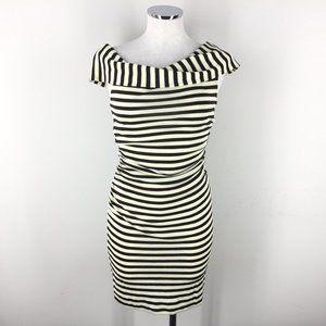 Vintage DVF S 4 6 Stripe off Shoulder Dress Bodyco